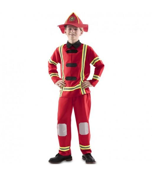 Disfraz de Bombero Rojo niño
