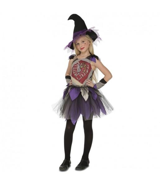 Disfraz de Bruja Esqueleto para niña