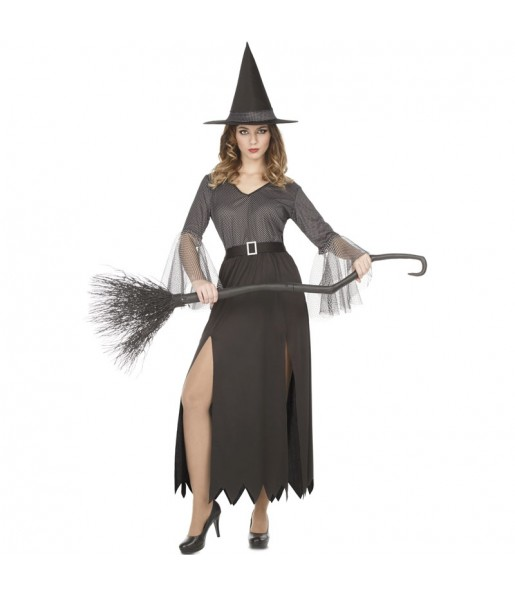 Disfraz de Bruja Plateada para mujer
