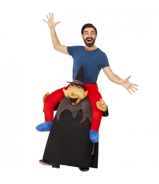 Disfraz de Brujo Halloween a hombros para adulto
