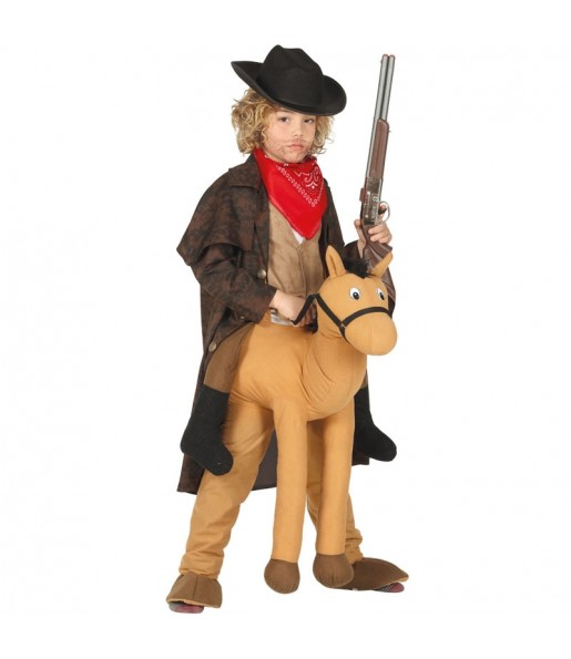 Disfraz de Caballo Rodeo a hombros para niños