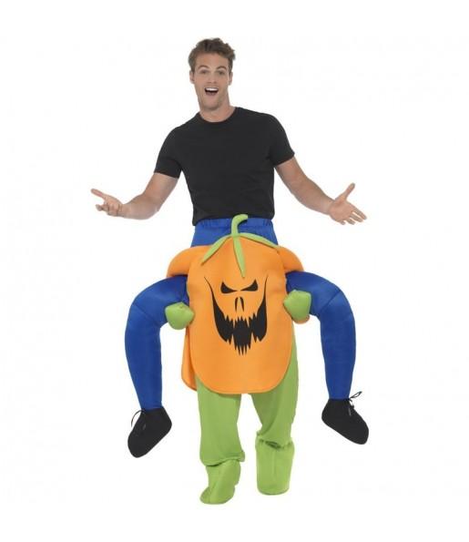 Disfraz de Calabaza Halloween a hombros para adulto