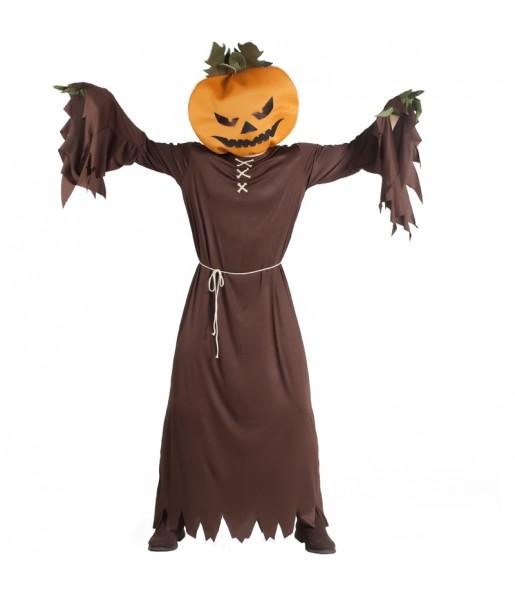 Disfraz de Calabaza Halloween Cabezuda para adulto