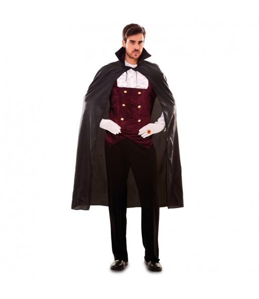 Disfraz de Capa Negra Vampiro para adulto