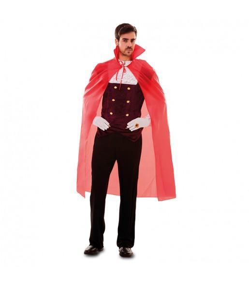 Disfraz de Capa Roja Demonio para adulto