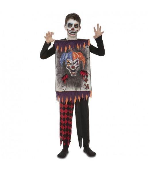 Disfraz de Carta Joker Asesino para niño