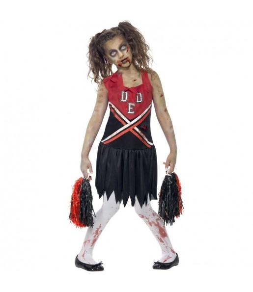 Disfraz de Cheerleader Zombie para niña