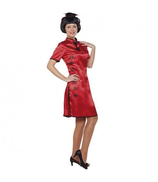 Disfraz de China Cheongsam para mujer