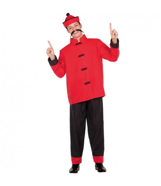 Disfraz de Chino Dragón Rojo para hombre