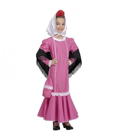 Disfraz de Chulapa rosa para niña