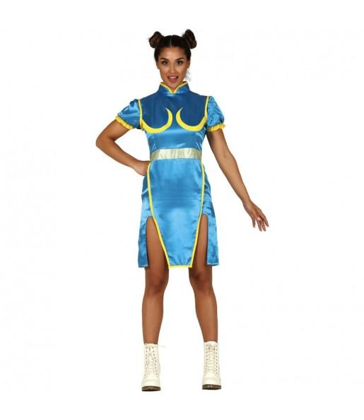 Disfraz de Chun-Li Street Fighter para mujer