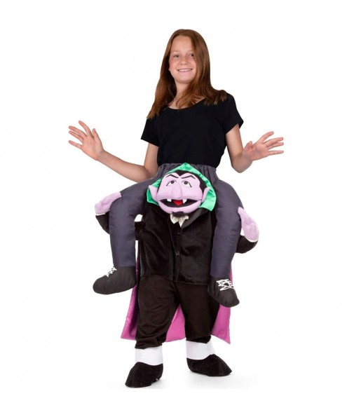Disfraz de Conde Draco a hombros Barrio Sésamo para niños