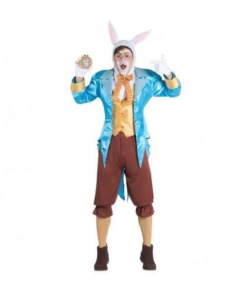 Disfraz de Conejo Alicia en el País de las Maravillas para hombre