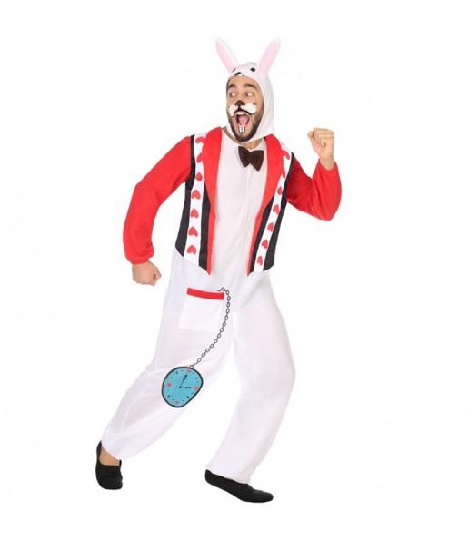 Disfraz de Conejo Blanco de Alicia para adulto