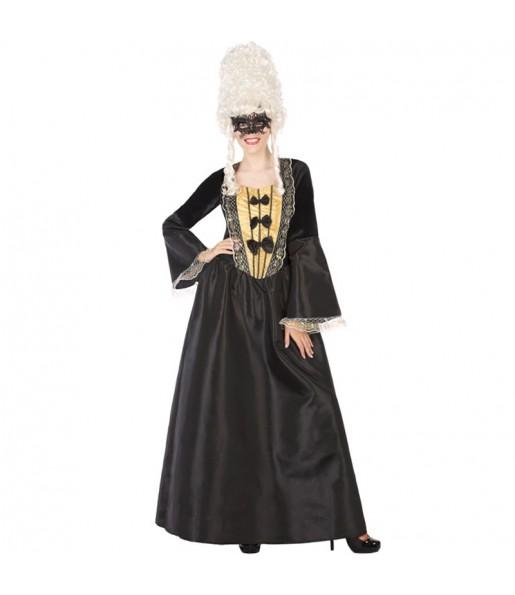 Disfraz de Cortesana Época Negro para mujer