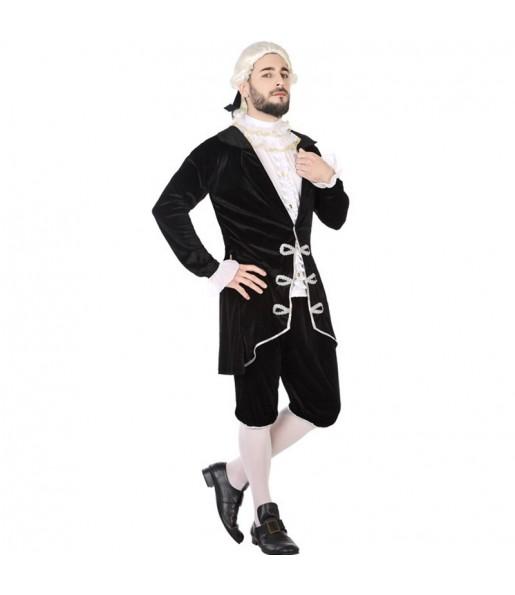Disfraz de Cortesano Época Negro para hombre