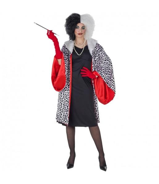 Disfraz de Cruella de Vil Lujo para mujer