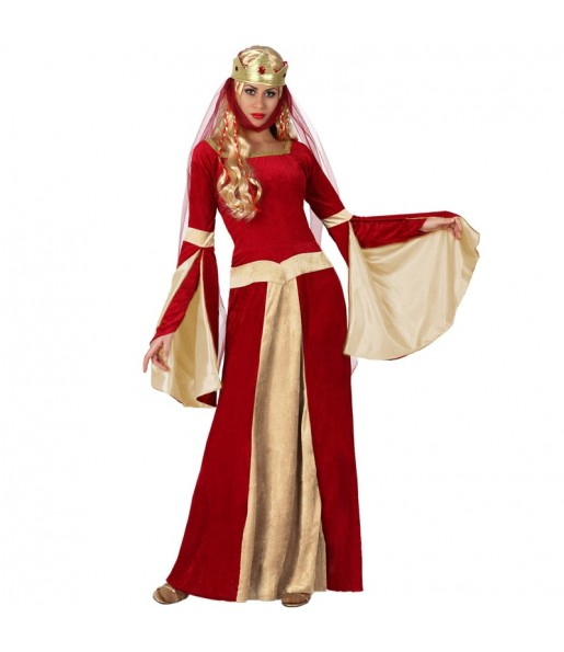 Disfraz de Dama Medieval Rojo