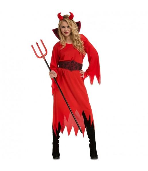 Disfraz de Diabla de los Infiernos para mujer
