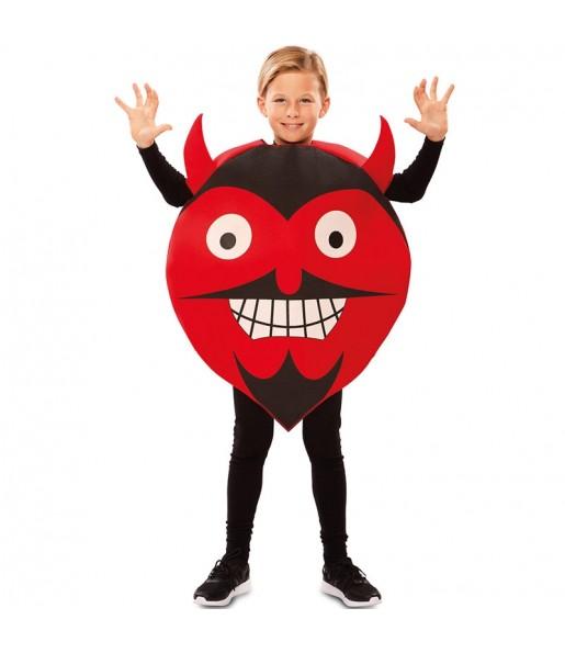 Disfraz de Diablo Emoticono para niño