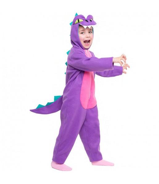Disfraz de Dinosaurio Morado para niña