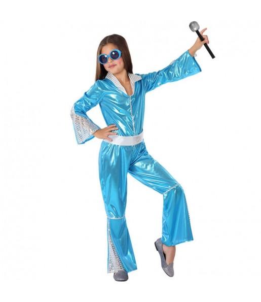 Disfraz de Disco Azul para niña
