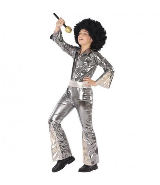 Disfraz de Disco Plateado para niño
