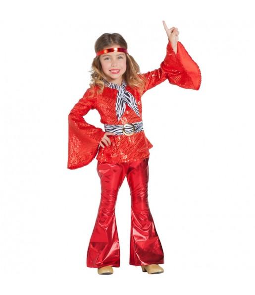Disfraz de Disco Rojo para niña