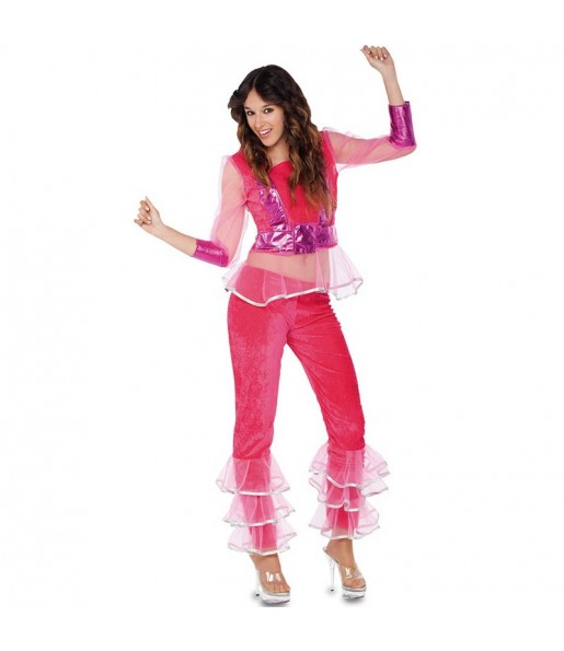 Disfraz de Disco Rosa para mujer