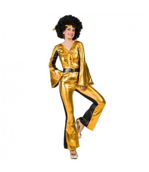 Disfraz de Discotequera Dorada para mujer