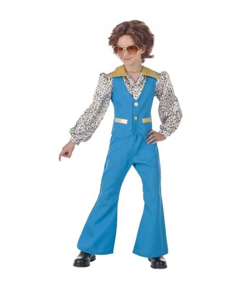 Disfraz de Discotequero Azul para niño