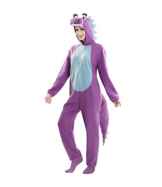 Disfraz de Dragón Morado para mujer
