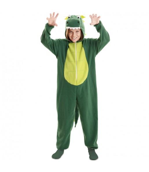 Disfraz de Dragón Verde para niño