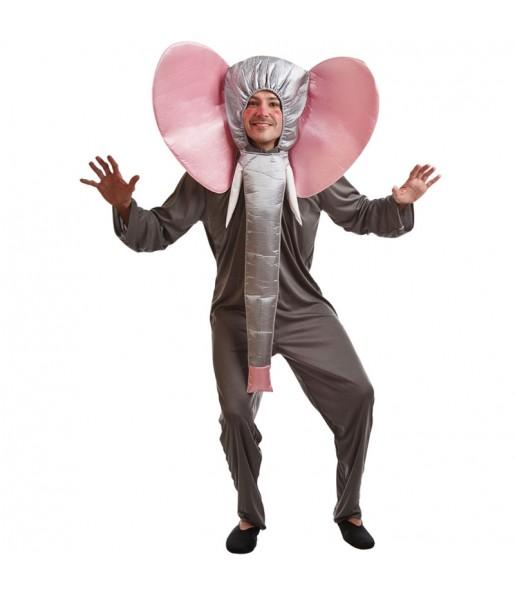 Disfraz de Elefante Gris adulto