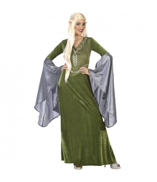Disfraz de Elfa verde para mujer