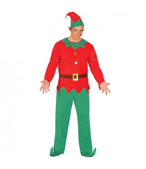 Disfraz de Elfo Santa Claus para hombre