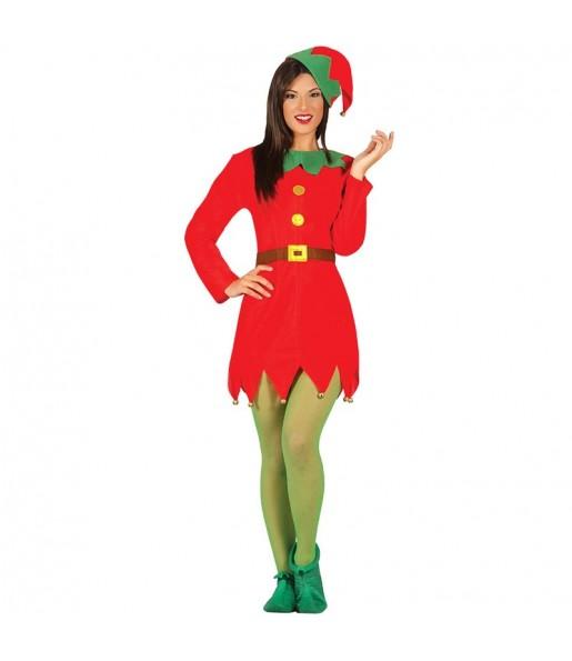 Disfraz de Elfo Santa Claus para mujer