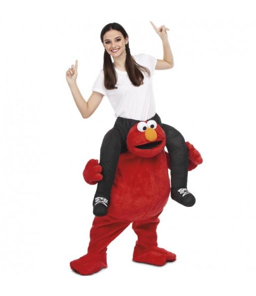 Disfraz de Elmo a hombros Barrio Sésamo adulto