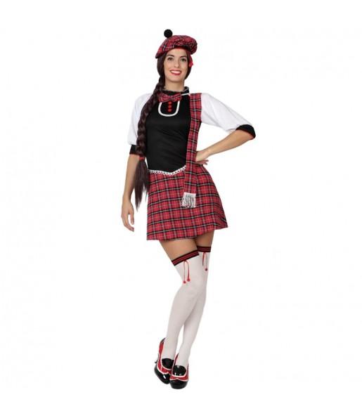 Disfraz de Escocesa adulto