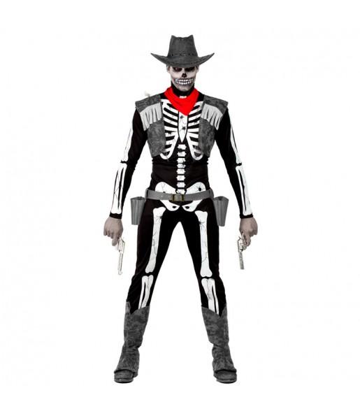 Disfraz de Esqueleto Cowboy hombre
