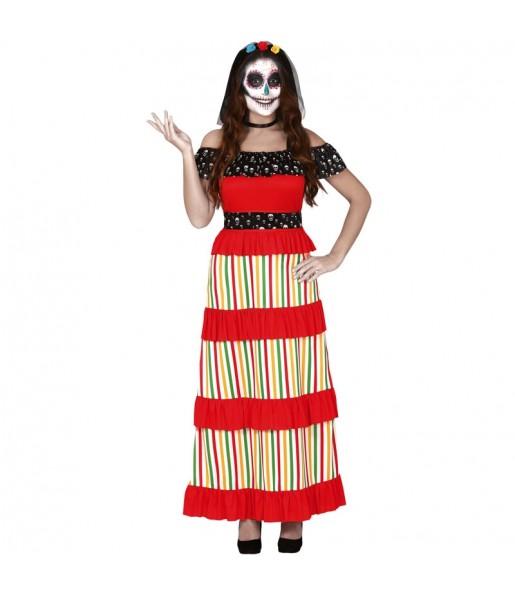 Disfraz de Esqueleto Día de los Muertos para mujer