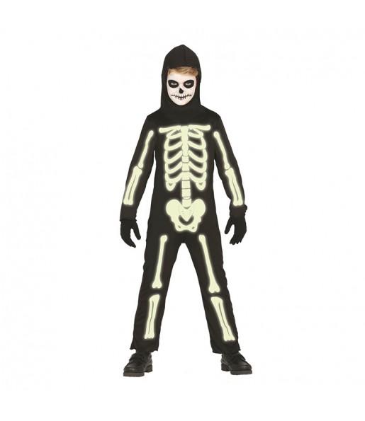 Disfraz de Esqueleto Glow in the Dark niño