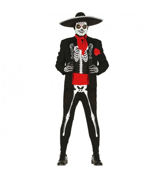 Disfraz de Esqueleto Mexicano para hombre