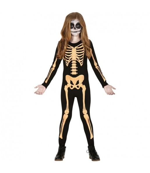 Disfraz de Esqueleto Skull para niña