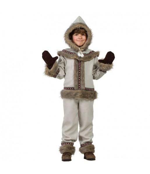 Disfraz de Esquimal Siberiano para niño