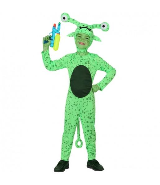 Disfraz de Extraterrestre Verde infantil