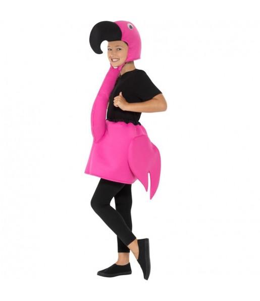 Disfraz de Flamenco Rosa para niño