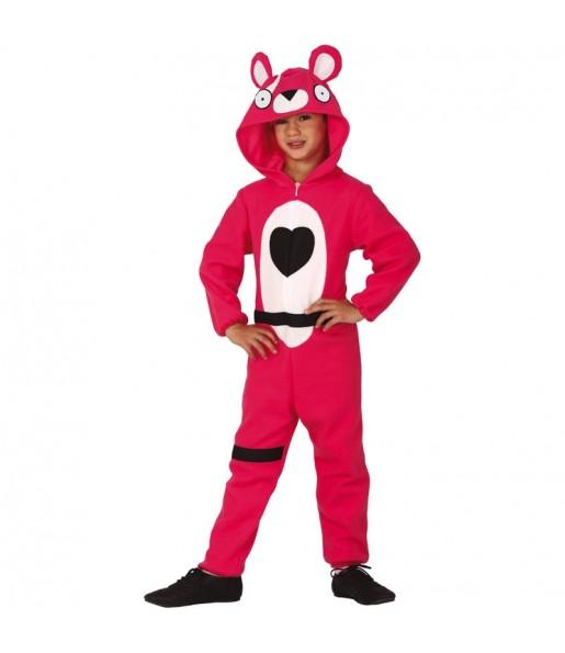 Disfraz de Fortnite Oso Rosa para niño