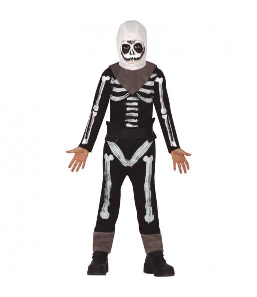 Disfraz de Fortnite Skull Trooper para niño