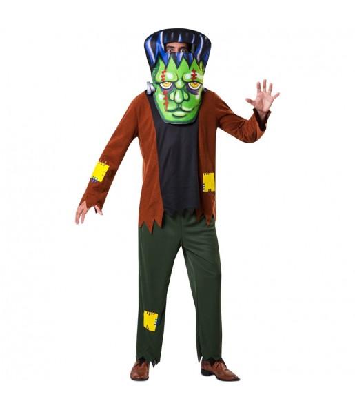 Disfraz de Frankenstein cabezudo para adulto